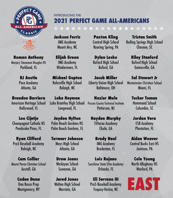 Team East and one of the nation's top Major League Baseball prospects, Elijah Green, will look to end the West's winning streak when the teams meet in the 19th annual Perfect Game All-American Classic at Petco Park in Sand Diego, CA on Sunday, August 22.