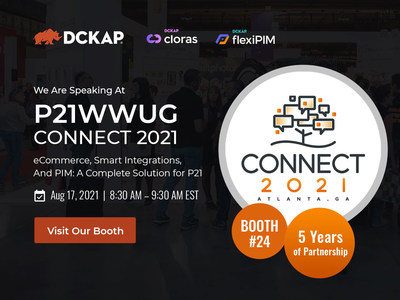 """P21WWUG Connect 2021, An annual event where P21WWUG members come together from all across the world to learn, socialize & make connections with each other. Join DCKAP At P21WWUG Connect 2021. We are looking forward to meeting you at the P21WWUG Connect: August 15-17, 2021. As a Gold Sponsor of the event, DCKAP is proud for five wonderful years of partnership with P21WWUG. Join our session on August 17 to hear from our experts who will walk you through - """"A Complete Solution For P21 Users"""""""