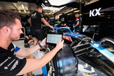 The KX platform can capture, analyse, model and visualize track data faster than a live video stream can be broadcast from a race