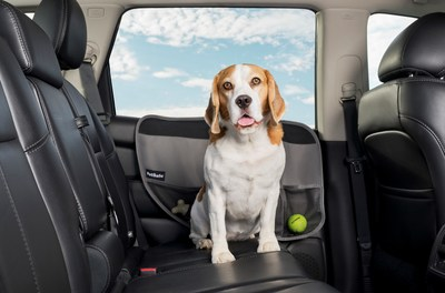 The Happy Ride® Door Protectors are easy to install, with simple tabs that slide between the car window and the door panel.