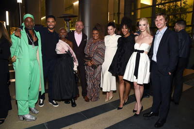 CENTURY CITY, CALIFORNIA - SEPTEMBER 18: (L-R) Billy Porter, Regé-Jean Page, Cynthia Erivo, Bob Beitcher, Yvette Nicole Brown, Kathryn Hahn, Michaela Jaé Rodriguez, Anya Taylor-Joy and Evan Peters attend MPTF 15th Annual Evening Before Emmys on September 18, 2021 in Century City, California. (Photo by Michael Kovac/Getty Images for MPTF)