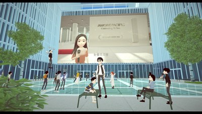 Amorepacific hosted an online ceremony for its 76th anniversary in the metaverse