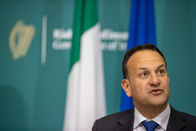 Ireland's Deputy Prime Minister and Minister for Enterprise, Trade and Employment, Leo Varadkar TD leads Enterprise Ireland's trade mission today to the UK, to boost greater trade collaboration between Ireland and the UK as economies emerge from Covid-19. As a strong trading partner with the UK, Irish companies are making an important economic contribution to the market. 125,000 people are employed by Irish companies in the UK (PRNewsfoto/Enterprise Ireland)