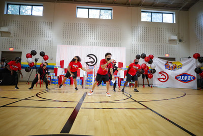 The Clorox brand and the Atlanta Hawks surprise students and faculty at Emma Hutchinson Elementary School in Atlanta, Ga. on Wednesday, Sept. 8, 2021 as a part of its program supporting superhero teachers, which is giving $1,000,000 to teachers through DonorsChoose along with $100,000 and a year's supply of wipes for Atlanta Public Schools.