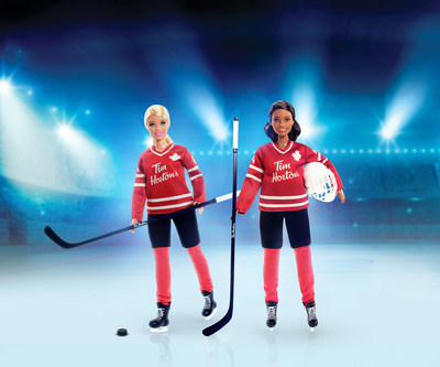 Tim Hortons donates 100% of net proceeds from the sale of Tim Hortons Hockey Barbie® dolls in restaurants to the Hockey Canada Foundation's Hockey Is Hers campaign (CNW Group/Tim Hortons)